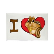 I heart chipmunks Rectangle Magnet