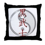 Dark Knight Kanji Throw Pillow