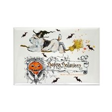 Halloween Fox Terrier Rectangle Magnet