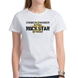 Chemical Engineer Rock Star by Night Tee
