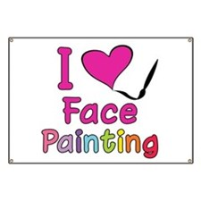 I Love Face Painting Banner