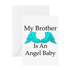 My Brother is an Angel Baby Greeting Card