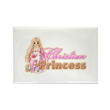 Christian Princess Rectangle Magnet