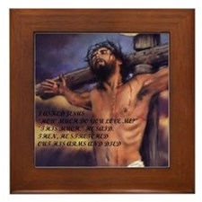 Love of Jesus Framed Tile