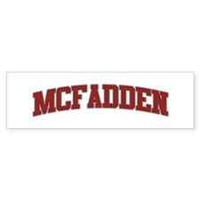 MCFADDEN Design Bumper Car Sticker