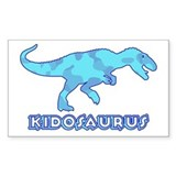 Blue Camo T-Rex Dinosaur Rectangle Decal