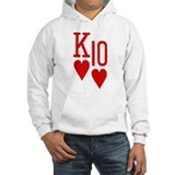 King Ten of Hearts Jumper Hoody