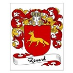 Renard Family Crest Small Poster