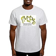 IMPS Text Logo Ash Grey T-Shirt