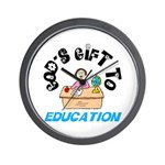 God's Gift to Education 2 Wall Clock