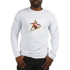 Ski Santa Long Sleeve T-Shirt