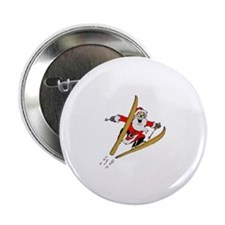 "Ski Santa 2.25"" Button (100 pack)"