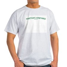 Martha's Vineyard (Green) - Ash Grey T-Shirt