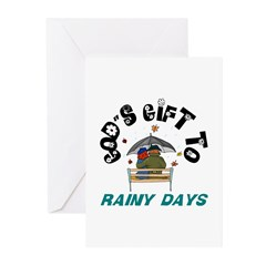 God's Gift to Rainy Days Greeting Cards (Package o
