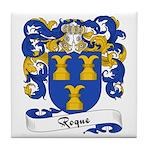 Roque Family Crest Tile Coaster