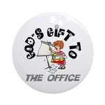 God's Gift to the Office 1 Keepsake (Round)