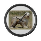 Bearded collie Giant Clocks