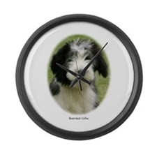 Bearded Collie 9Y049D-018 Large Wall Clock