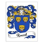 Roussel Family Crest Small Poster