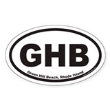 Green Hill Beach GHB Euro Oval Decal