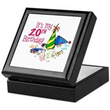 It's My 20th Birthday (Party Hats) Keepsake Box