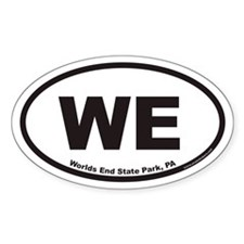 Worlds End State Park WE Euro Oval Decal