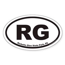 Ricketts Glen State Park RG Euro Oval Decal