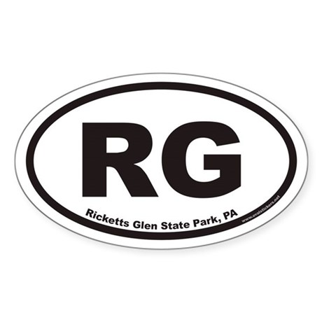 Ricketts Glen State Park RG Euro Oval Sticker