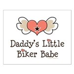 Daddy's Little Biker Babe Small Poster