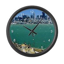 San Francisco from Alcatraz Large Wall Clock