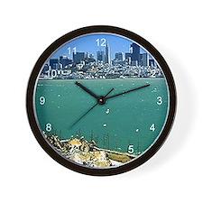 San Francisco from Alcatraz Wall Clock