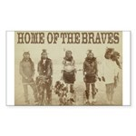 Home of the Braves Rectangle Sticker 10 pk)