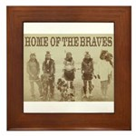 Home of the Braves Framed Tile
