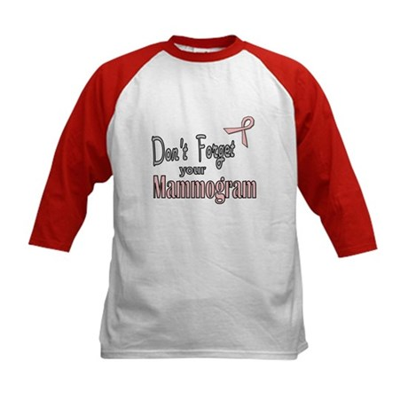 Mammogram Reminder Kids Baseball Jersey