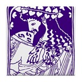 Purple Bacchus Tile Coaster
