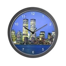 New York City at Night Wall Clock
