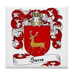 Serre Family Crest Tile Coaster