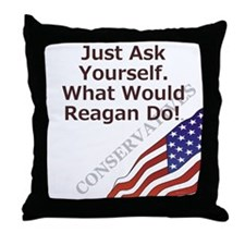 Conservative Mantra Throw Pillow