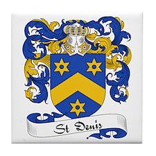 St. Denis Family Crest Tile Coaster