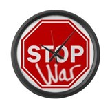 Stop War Large Wall Clock