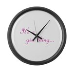 Girl Thing Large Wall Clock