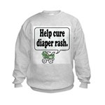 Help Cure Diaper Rash -  Kids Sweatshirt
