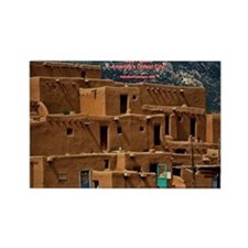 Taos Pueblo Rectangle Magnet