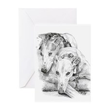 Cute Greyhound Greeting Card