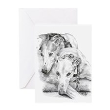 Unique Greyhound Greeting Card