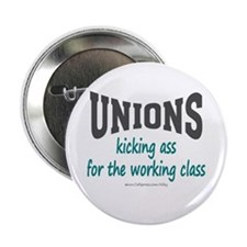 "Unions Kicking Ass 2.25"" Button (100 pack)"