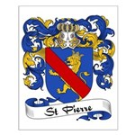 St. Pierre Family Crest Small Poster