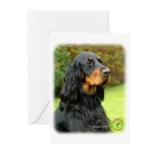 Gordon Setter 9T012D-135 Greeting Cards (Pk of 10)