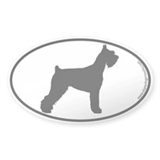 Giant Schnauzer SILHOUETTE Oval Decal