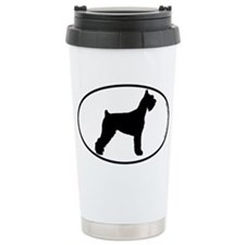 Giant Schnauzer SILHOUETTE Ceramic Travel Mug